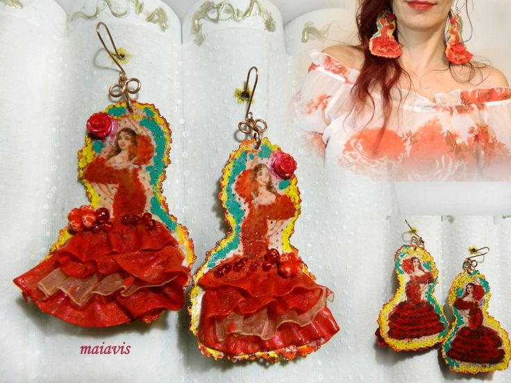 Chandelier earings feminin flamenco dance