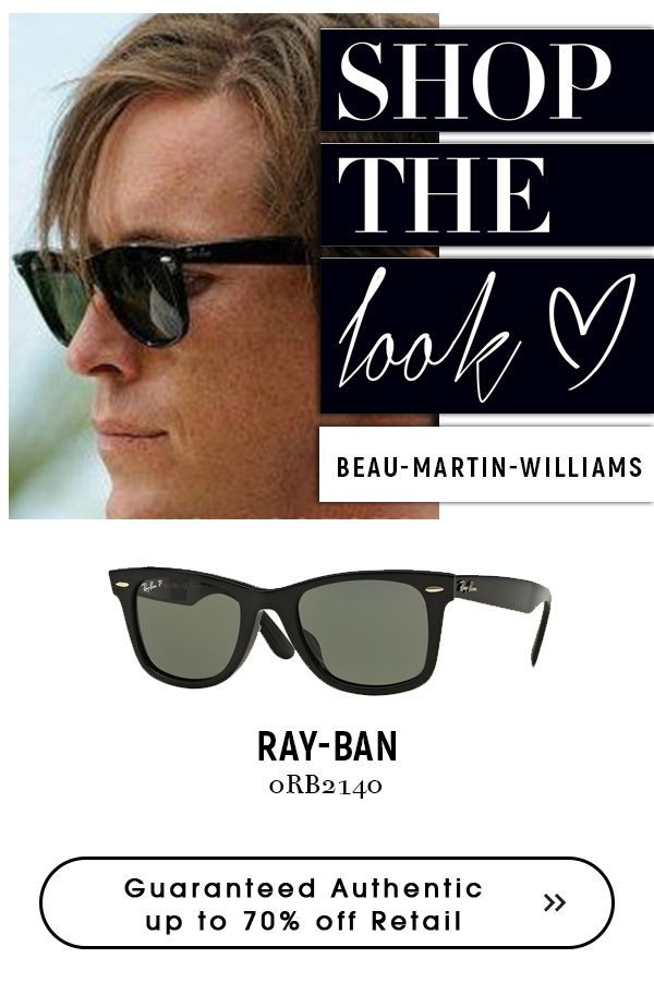 c197835a7a Beau Martin Williams wearing rayban wayfarer-sunglasses-black. A big  discount on a big brand  rayban sunglasses for men  wayfarer  eyeglasses123