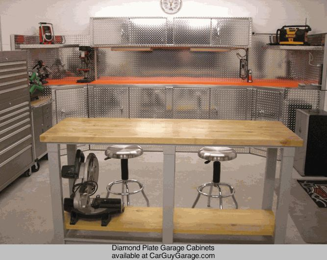 Http://www.carguygarage.com Diamond Plate Garage Cabinets,Stainless Cabinets