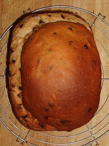 Chocoladebrood by Mme Zsazsa: - 4 gram droge gist - 50 gram suiker - 1 zakje vanillesuiker* - 500 gram witte bloem - 1 ei, aanvullen met melk tot 300 ml - 40 gram boter - 2 gram zout - 100 gram chocoladedruppels