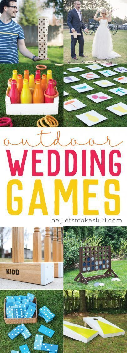 DIY Outdoor Wedding Games If you're having an …