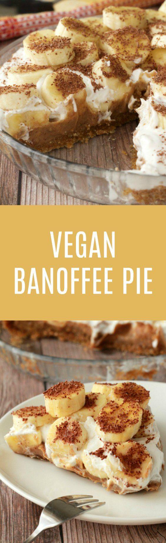 Vegan Banoffee Pie. Insanely delicious, raw and gluten-free! Vegan | Raw Vegan | Vegan Dessert | Vegan Recipes | Gluten Free | Gluten Free Vegan | Dairy Free