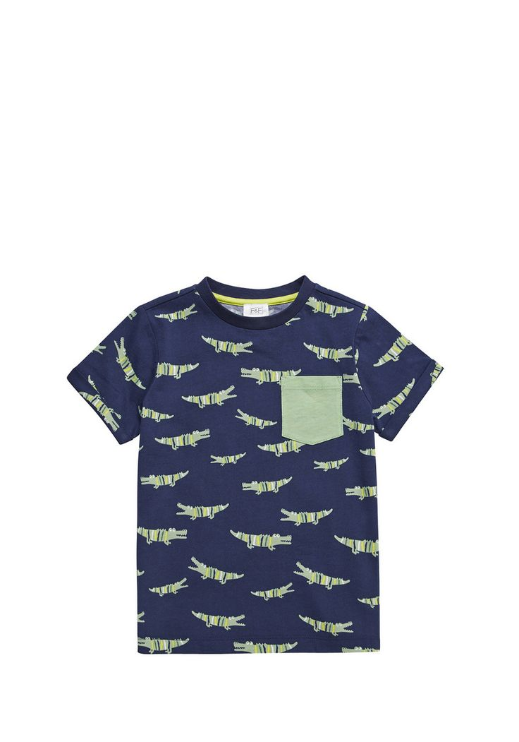 Clothing at Tesco | F&F Crocodile Print T-Shirt > tops > Tops & T-shirts > Kids