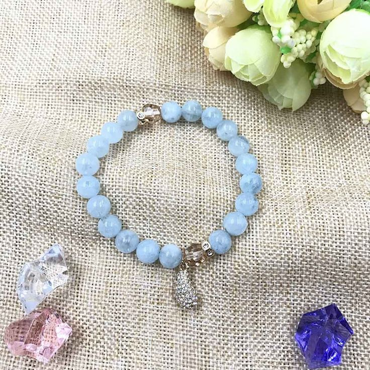 UneJoux Fashion Bracelet Beads With Aquamarine FBL-3