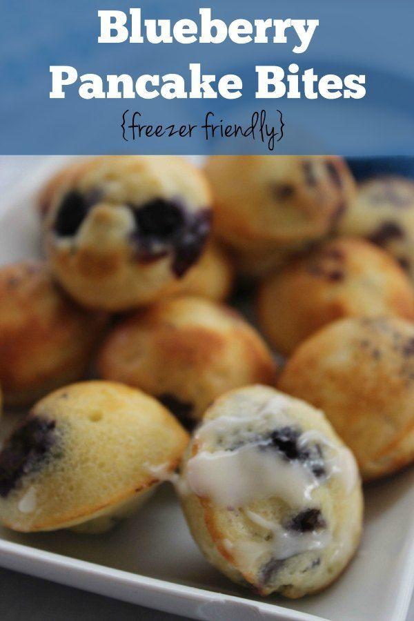 Blueberry Pancake Bites :: Freezer Friendly breakfast idea!
