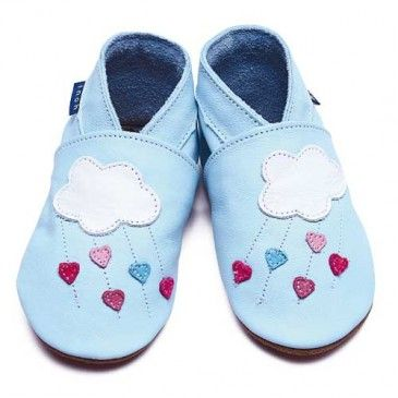 Chaussons cuir souple Inch Blue Love Shower INCH BLUE