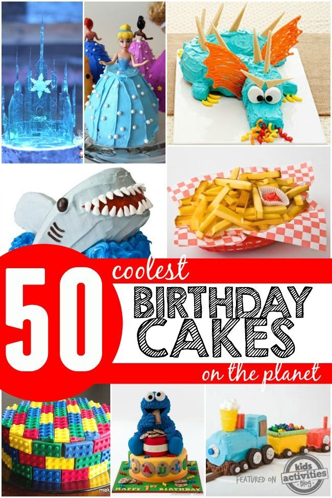 These are some of the coolest DIY birthday cakes ever! Your kids will love these for an awesome birthday party!