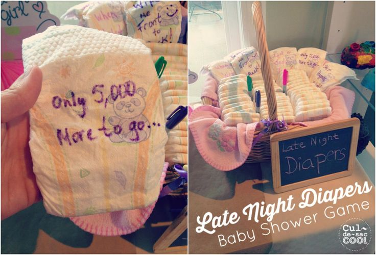 Late Night Diapers Baby Shower Game Collage