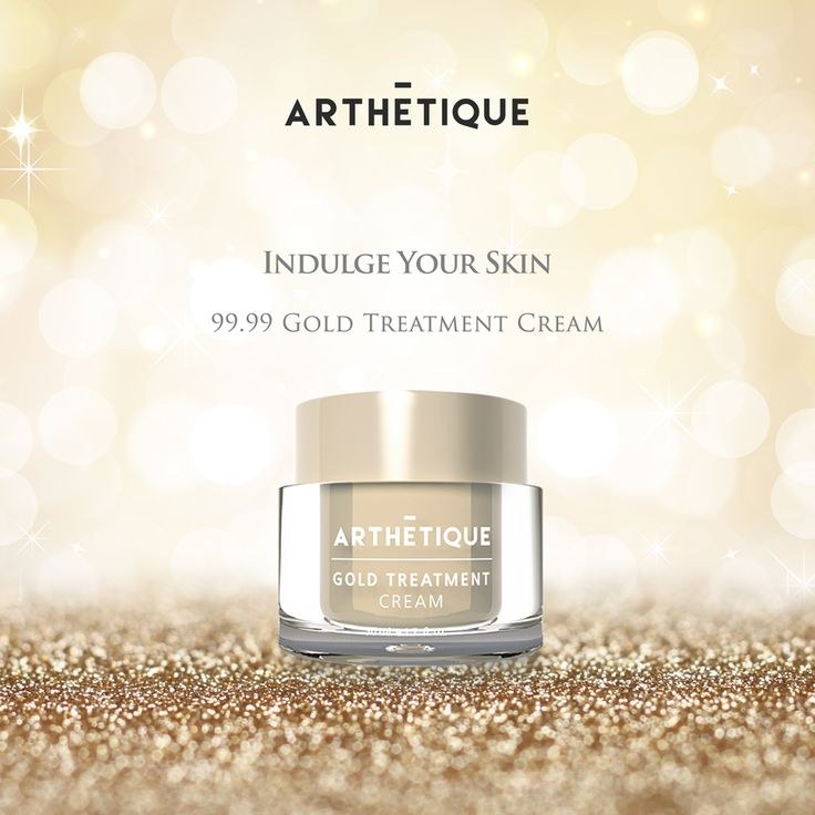 Indulge your skin in ARTHETIQUE's premium Gold Treatment Cream that contains 99.99% Gold and experience deep hydration, improved skin's elasticity and best of all, a luxurious shine!