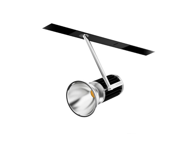 Adjustable indoor lighting fixture IP20. Cast aluminium manufactured, mounted with magnetic track adapter wich is recessed into the track feeded with 48v DC. Finished with different anodized colors. Adjustable arms with different length and interchangeable reflectors.