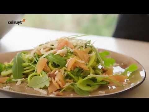 Spaghetti courgetti met zalm | Colruyt