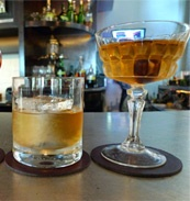 Barrel-aged cocktails at FIG, Fairmont Santa Monica