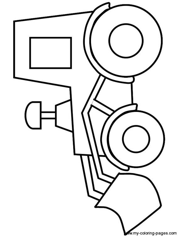 Front end loader - site has over 90 construction themed coloring page printables