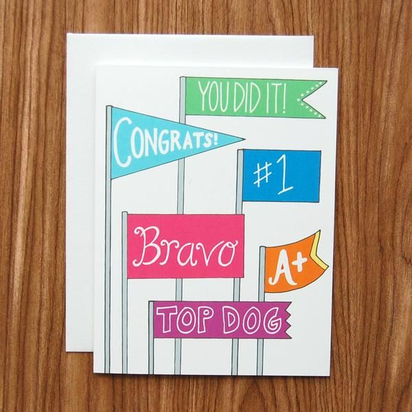 Congratulations Banners Card
