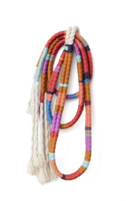 Alicia Scardetta, Desert Lariat Two Strand, 2016, wool and cotton rope