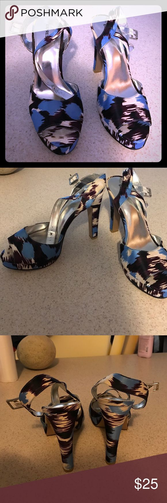 Express shoes Only worn twice! Beautiful shoes! Express Shoes Heels