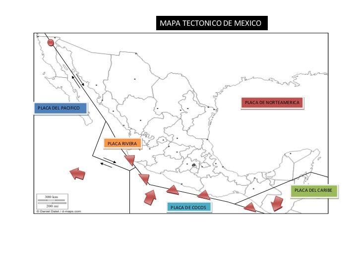 Resultado de imagen para mapa placas tectonicas mexico