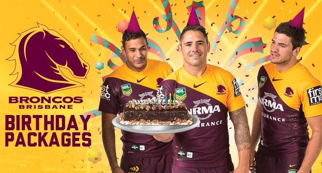 Birthday party Packages - NRL Brisbane Broncos