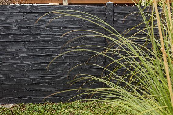 Plaque Béton aspect bois brut.  Béton : ultra solide et sans entretien.