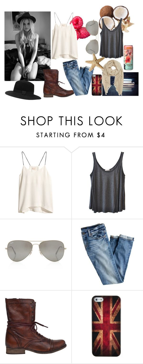 """""""Soft <3 CASA DE ANUBIS"""" by c-sof ❤ liked on Polyvore featuring Paul Frank, H&M, American Vintage, Rayban, J.Crew, Steve Madden, Retrò and Witchery"""
