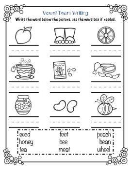 Second Grade FUN Phonics Unit 11: Double Vowel Syllables