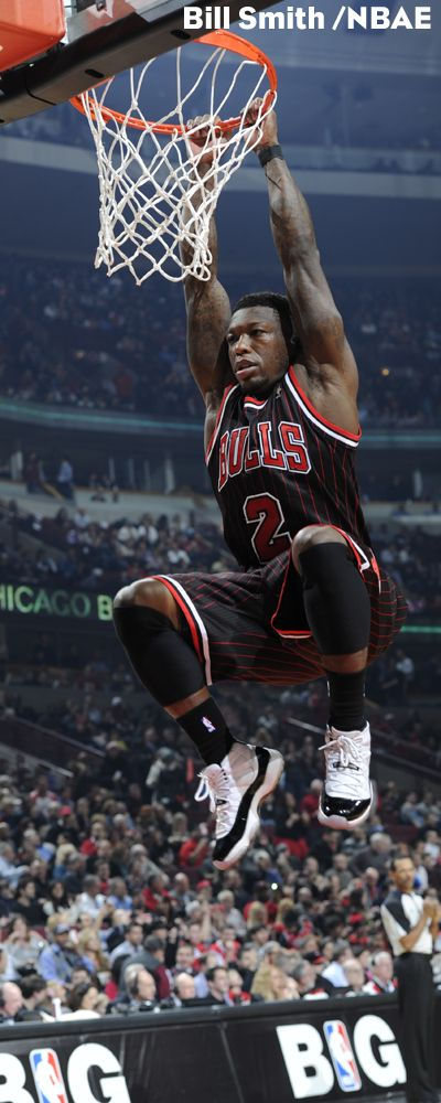 Mr. Excitement, also known as Nate Robinson has fun getting air against the Heat on February 21.