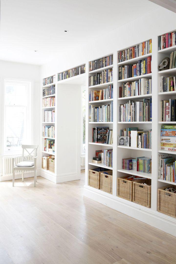 Estanter a de obra ideas reforma pinterest - Librerias salon blancas ...