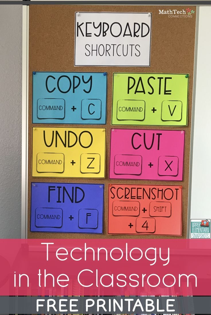 Review basic computer skills before sending off students to complete digital assignments. Use these free printable posters to review keyboard shortcuts and what each cursor icon means.