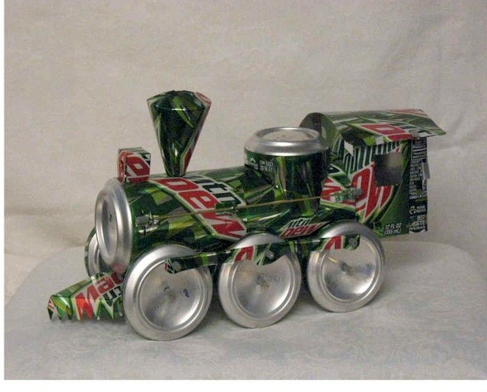 The Aluminum Can Train