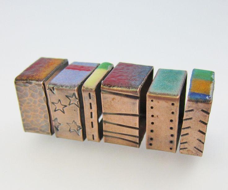 Colorful Copper: Make Square Rings Using Enamel or Resin and Hardware-Store Copper Pipe - Jewelry Making Daily - Realizzare anelli quadrati e smaltati