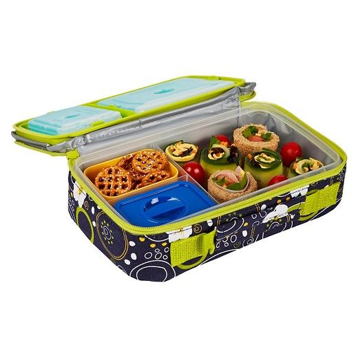 Fit & Fresh Bento Lunch Box Kit with Reusable Ice Packs - Cherry Dots : Target