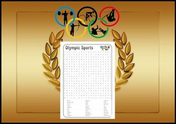 Summer Olympic Sports Word Find Rio 2016