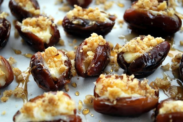 Mascarpone Stuffed Dates with Maple Drizzle - Amee's Savory Dish