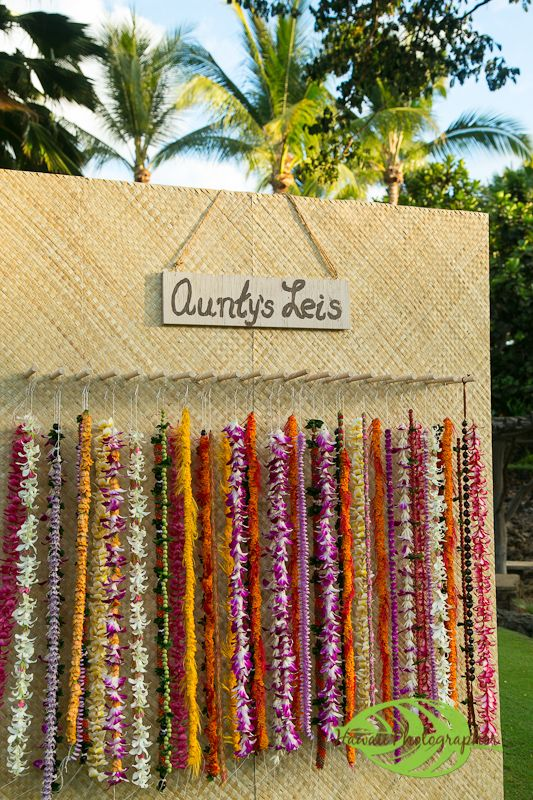 Guests Were Greeted With Flower Leis From A Traditional Hawaiian Lei Stand And Isted In