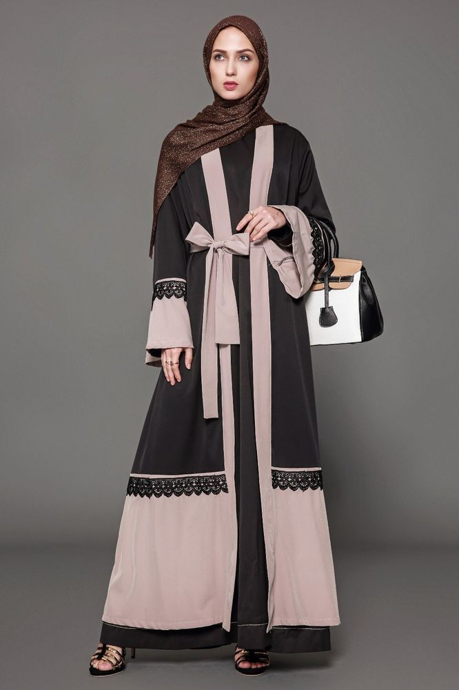 e0c031059f6 Fashion Muslimah Ramadan Eid Abaya Djellabiya Gowns Plus Size Kimono Maxi  Dress