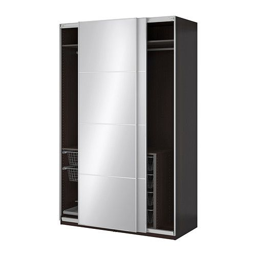 Ikea 365 glass clear glass ikea pax wardrobe wardrobes and mirror glass - Ikea armoire with mirror ...