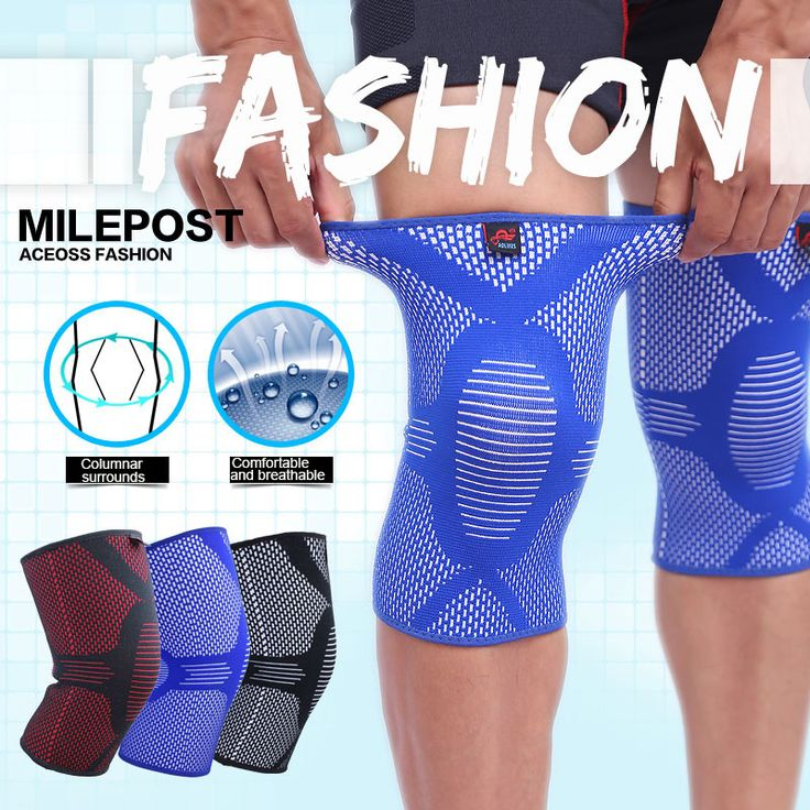 AOLIKES 1PCS Nylon Elastic Fitness Knee Brace Compression Support Sleeve Basketball Sports Protect patella Arthritis Joint Pain