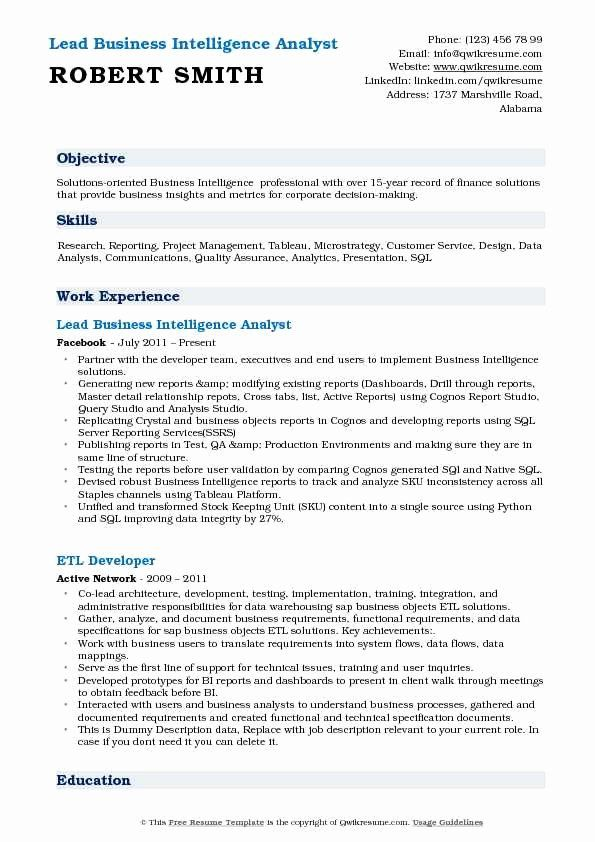 Business Analyst Resume Summary Elegant Business Intelligence Analyst Resume Sample Business Analyst Resume Business Intelligence Business Intelligence Analyst