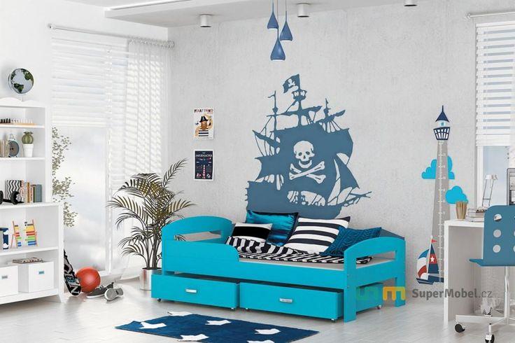 Dětská postel GRES Color, 180x80