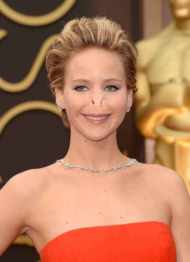 Jennifer Lawrence. | 13 Celebrities With Voldemort's Nose