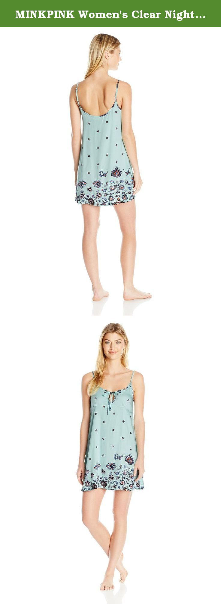 MINKPINK Women's Clear Night Sky Nightie, Multi, Small. Take the MINKPINK clear night sky nightie out with a pair of sneakers, or to bed with the super easy blue color way and placement printed paisley.