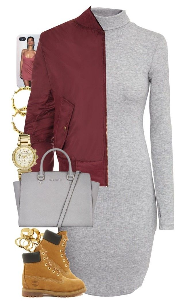 """""""Untitled #1422"""" by power-beauty ❤ liked on Polyvore featuring Fergie, H&M, WearAll, Michael Kors, MICHAEL Michael Kors and Timberland"""