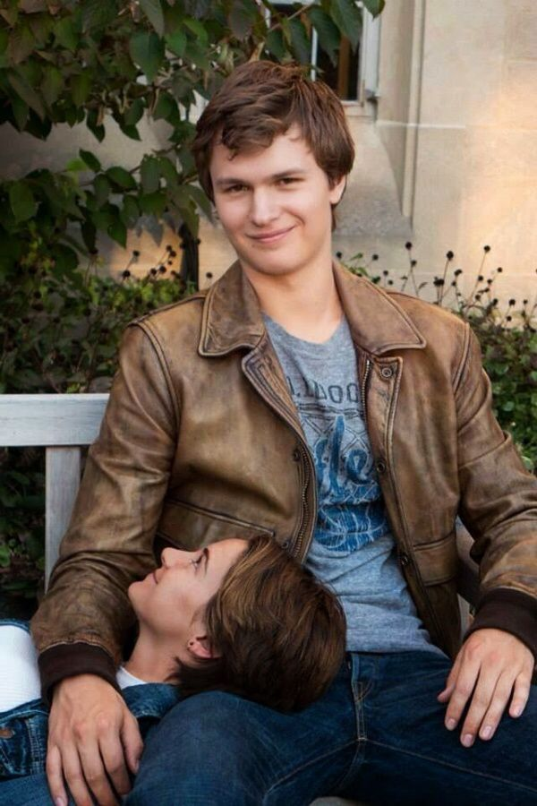 I love love love Augutus waters and hazel grace they look so so cute in this picture together I love the fault in our stars it is so so so so so awesome.