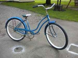 My first 2 wheeler was a blue Schwinn girls bike from the 1960's.  Santa delivered it Christmas morning.