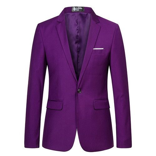 Men Slim Fit Purple Blazer and Suit Jacket Fashion Wedding Prom Blazers for Men