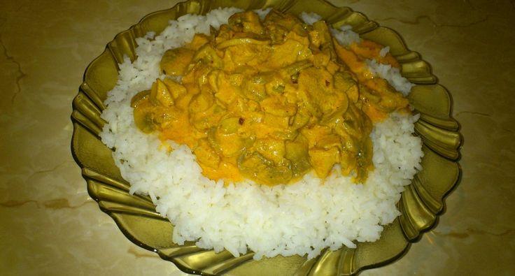 Bakonyi gombás rizs recept