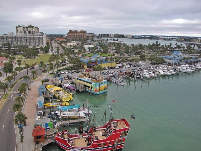 A view of the marina from the rooftop bar at Pier 60, a new hotel in Clearwater Beach., via Flickr.