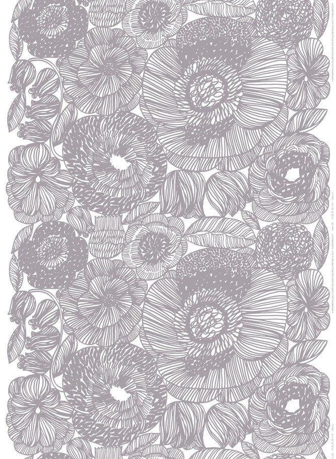 Marimekko Marimekko Kurjenpolvi Fabric Grey/White - KIITOSlife - 1