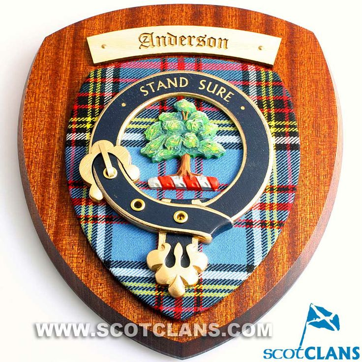anderson clan crest wall plaque. Black Bedroom Furniture Sets. Home Design Ideas