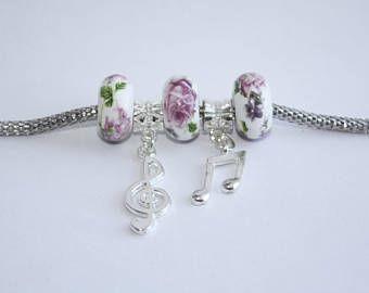Musical Note Charm Bracelet - Three C Jewelry